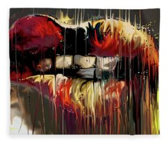 Lips Say It Fleece Blanket