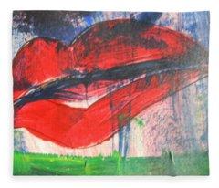 Lipstick - Sold Fleece Blanket