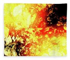 Liquid Volcano Burn Fleece Blanket