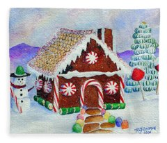 Lisa's Gingerbread House Fleece Blanket