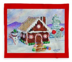 Lisa's Gingerbread House Fleece Blanket