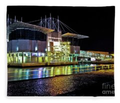 Lisbon - Portugal - Oceanarium At Night Fleece Blanket