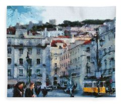 Lisbon Street Fleece Blanket