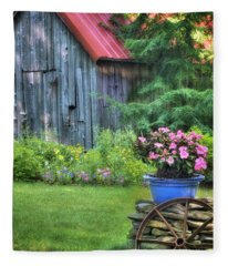 English Cottage Photographs Fleece Blankets