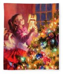 Little Angel Bright Fleece Blanket