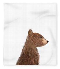 Little Bear Brown Fleece Blanket