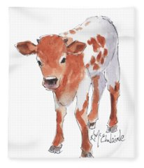 Little Beau April 2017 By Kathleen Mcelwaine Fleece Blanket