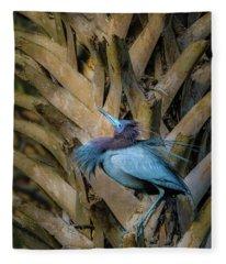Little Blue Heron Fleece Blanket