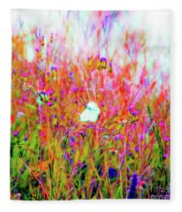Little Butterfly Fly Fleece Blanket