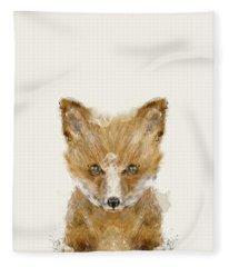 Little Fox Cub Fleece Blanket