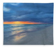 Little Hickory Beach Fleece Blanket