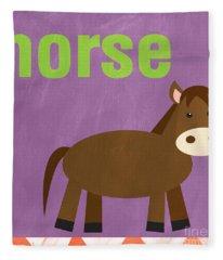 Little Horse Fleece Blanket