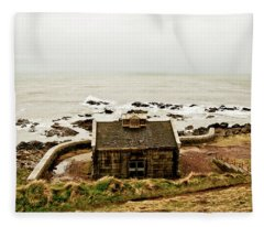 Little House At The Nigg Bay. Fleece Blanket