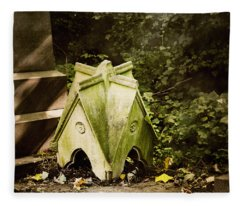 Little House In The Woods Fleece Blanket