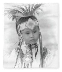 Little Native American Dancer Fleece Blanket