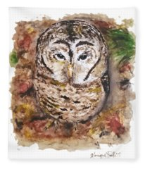 Little Owl Fleece Blanket