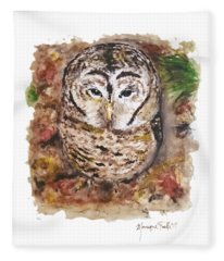 Little Owl Fleece Blanket