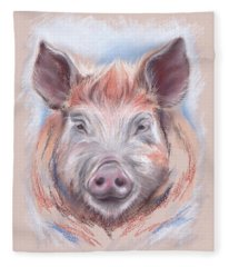 Little Pig Fleece Blanket