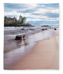 Little Presque Isle Fleece Blanket