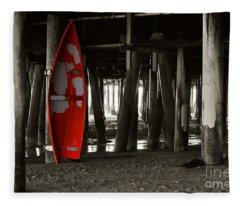 Little Red Boat IIi Fleece Blanket