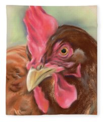 Little Red Hen Fleece Blanket