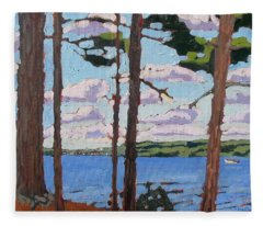 Little Rideau Lake Fleece Blanket
