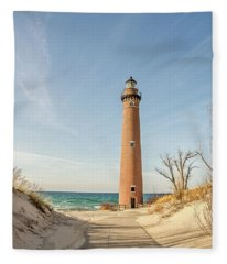Little Sable Point Lighthouse Fleece Blanket