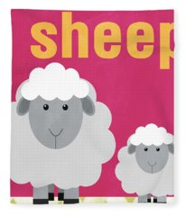Little Sheep Fleece Blanket