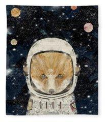 Little Space Fox Fleece Blanket