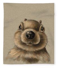 Little Squirrel Fleece Blanket