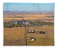 Little Town On The Prairie Fleece Blanket