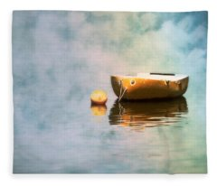 Little Yellow Boat Fleece Blanket