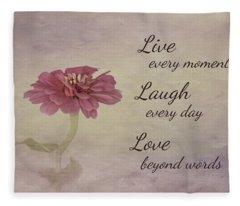 Live Laugh Love Fleece Blanket