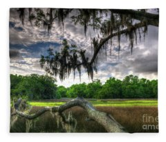 Live Oak Marsh View Fleece Blanket