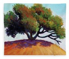 Live Oak Tree Fleece Blanket