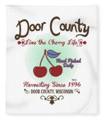 Live The Cherry Life Fleece Blanket