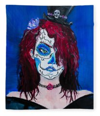 Living Dead Girl Fleece Blanket