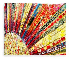 Living Edgewater Mosaic Fleece Blanket