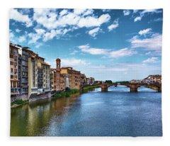 Living Next To The Arno River Fleece Blanket