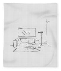 Living Room 001 Fleece Blanket