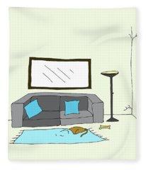 Living Room 002 Fleece Blanket