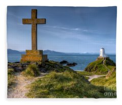 Llanddwyn Cross Fleece Blanket