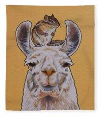 Llois The Llama Fleece Blanket