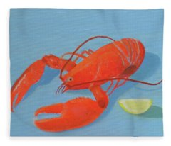 Lobster And Lemon Fleece Blanket