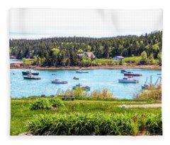Lobster Boats  Fleece Blanket