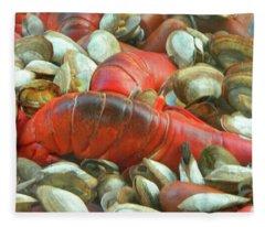 Lobster Clam Bake Connecticut Style2 Fleece Blanket