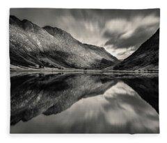 Loch Achtriochtan Reflection Fleece Blanket