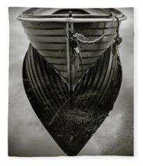 Boat Reflection Fleece Blanket