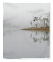 Loch Ard Misty Sunrise Fleece Blanket