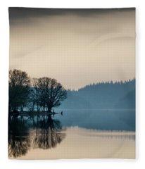 Loch Ard Reflection Fleece Blanket